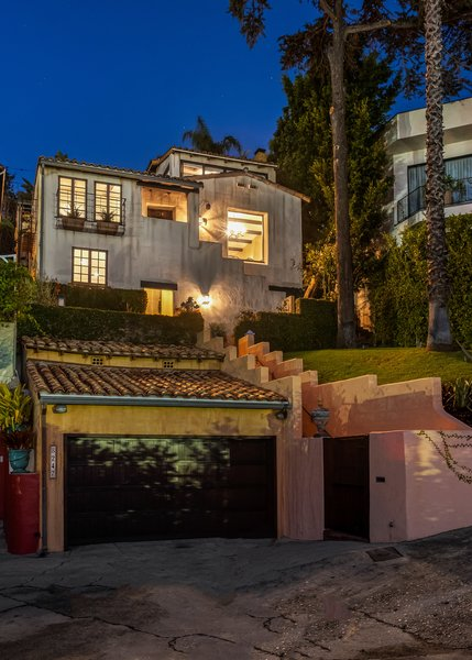 Known for playing the role of Jesse Pinkman in the hit series Breaking Bad, actor Aaron Paul bought the West Hollywood home with his wife, Lauren Parsekian, in 2012. Perched above Sunset Strip, the Spanish-style property provides privacy from the street level.