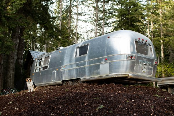 Designer and builder Ryan Hanson and his wife Catherine Macleod turned a 1970s Airstream into a tiny getaway for their family.