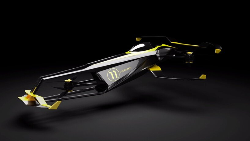 carcopter is a flying hydrogen-powered formula 1 car conceived by MACA