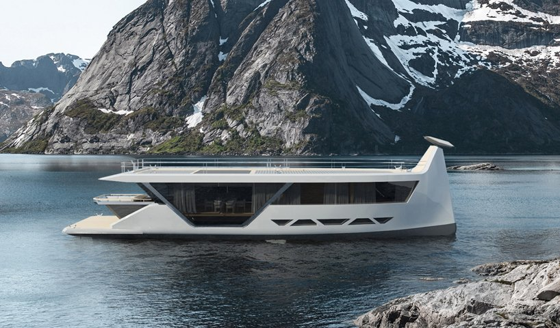 max zhivov draws influence from viking ships to design smart yacht 'drakkar S'